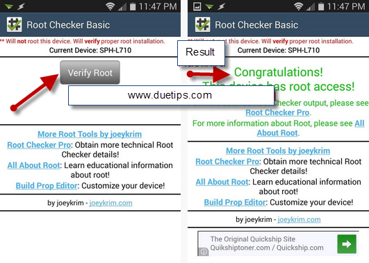 Root Checker App To Check Root Android Access