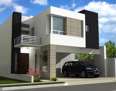 Fachadas contempor neas hermosas fachadas contempor neas for Casa moderna 4 mirote y blancana