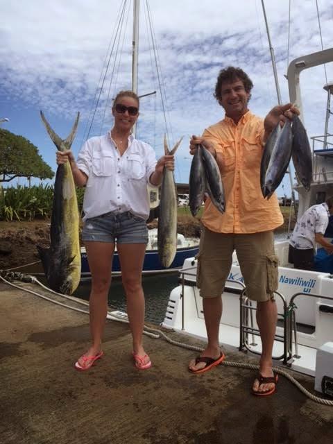 C lure fishing chaters kauai hawaii mahimahi tuna for Fishing in kauai