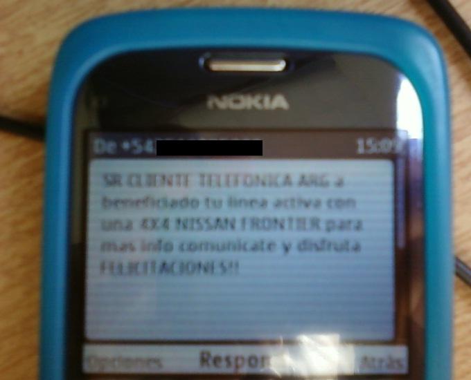 premios por sms... fail !!