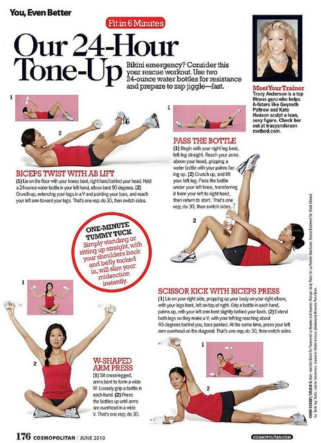 12 Trainer Tracy Anderson Workout sheets