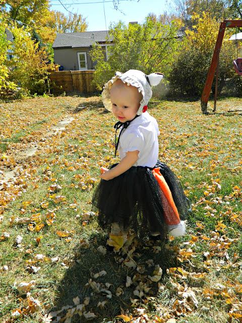 vintage handmade fox baby girl costume Just Peachy, Darling