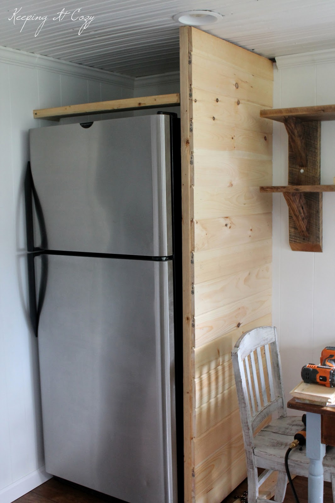 Kitchen Refrigerator Enclosure Cabinet