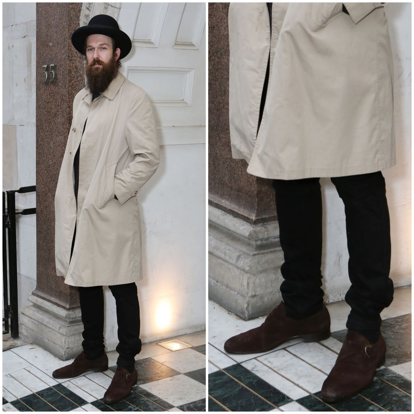 00O00 Menswear Blog: Richie Culver in Jimmy Choo Byron suede monk strap shoes - Opening of new Jimmy Choo menswear store No.35a Dover Street London