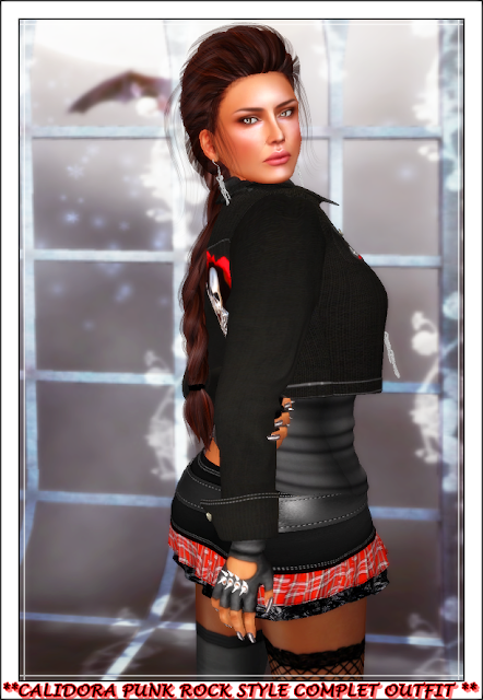 **ROCK IS MY STYLE**  **CALIDORA PUNK ROCK STYLE COMPLET OUTFIT **