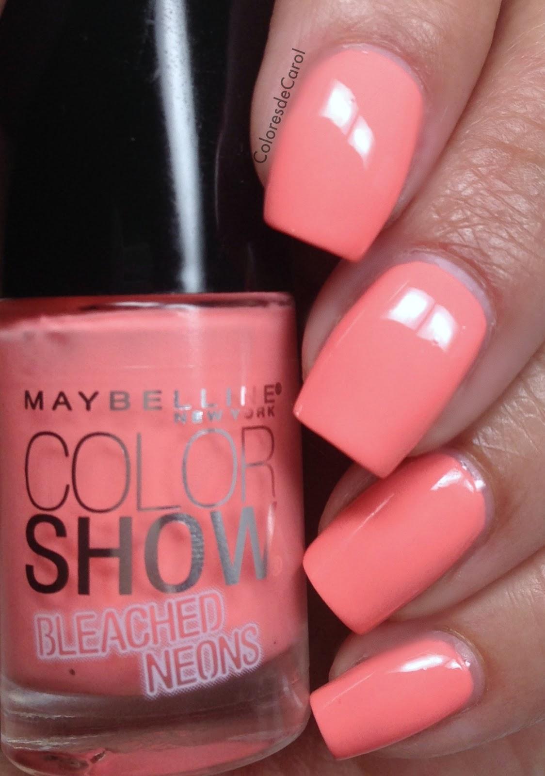 Colores de Carol: Maybelline Bleached Neons