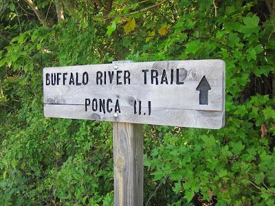 Buffalo River Trail trailhead marker