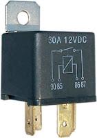 Relé de 12Vdc para poder conectar o aislar dos instalaciones de 12Vdc