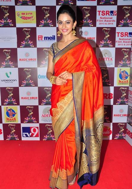 Rakul Preet Singh Stills at TSR TV9 National Film Awards
