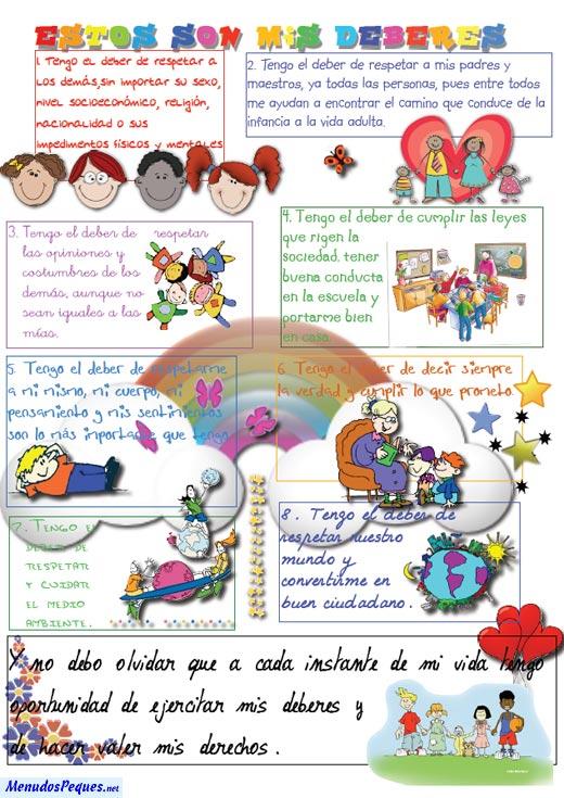 Dibujos de los derechos de los niños y obligaciones - Imagui