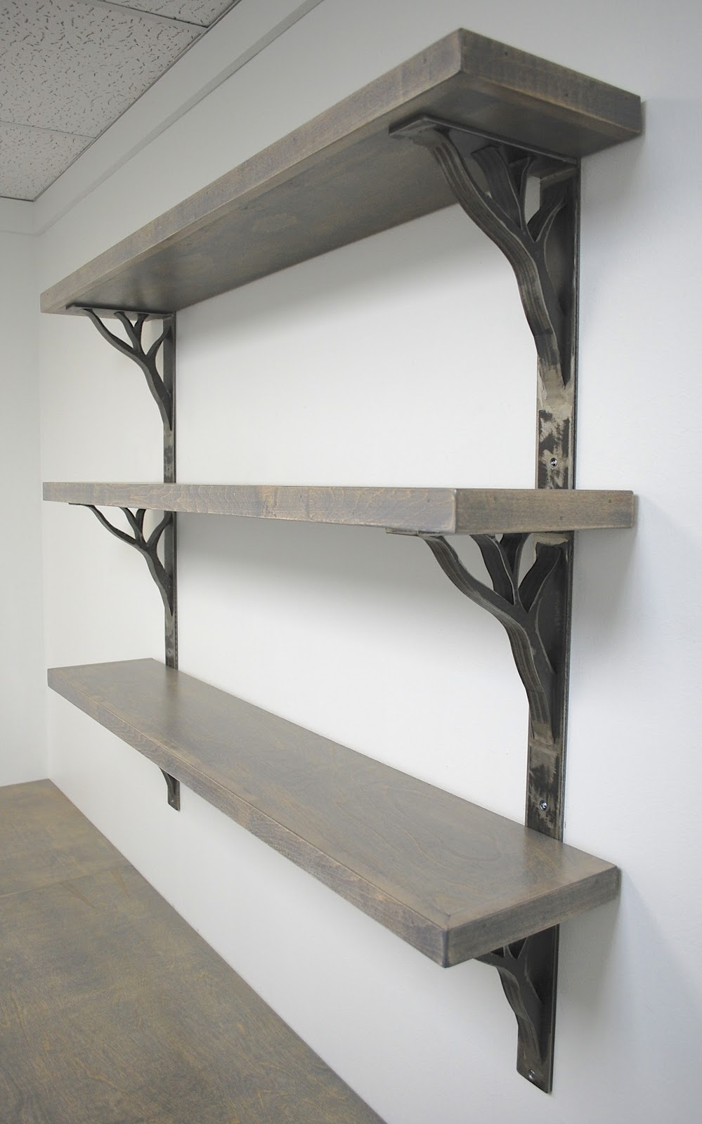 Architectural Supports Shelves : Urban ironcraft open shelving linear shelf brackets