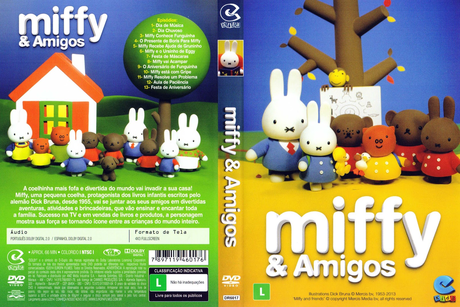 Capa DVD Miffy E Amigos