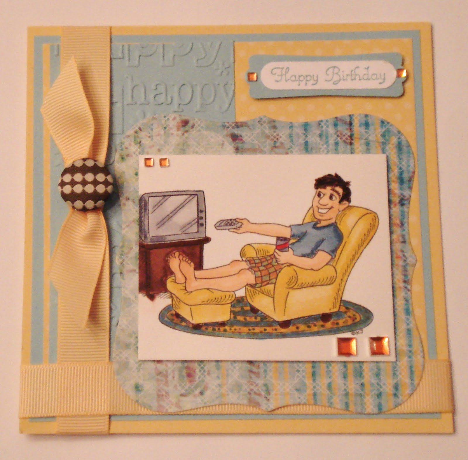 ink and lace with sheryl cauble birthday card for my son in law, Birthday card