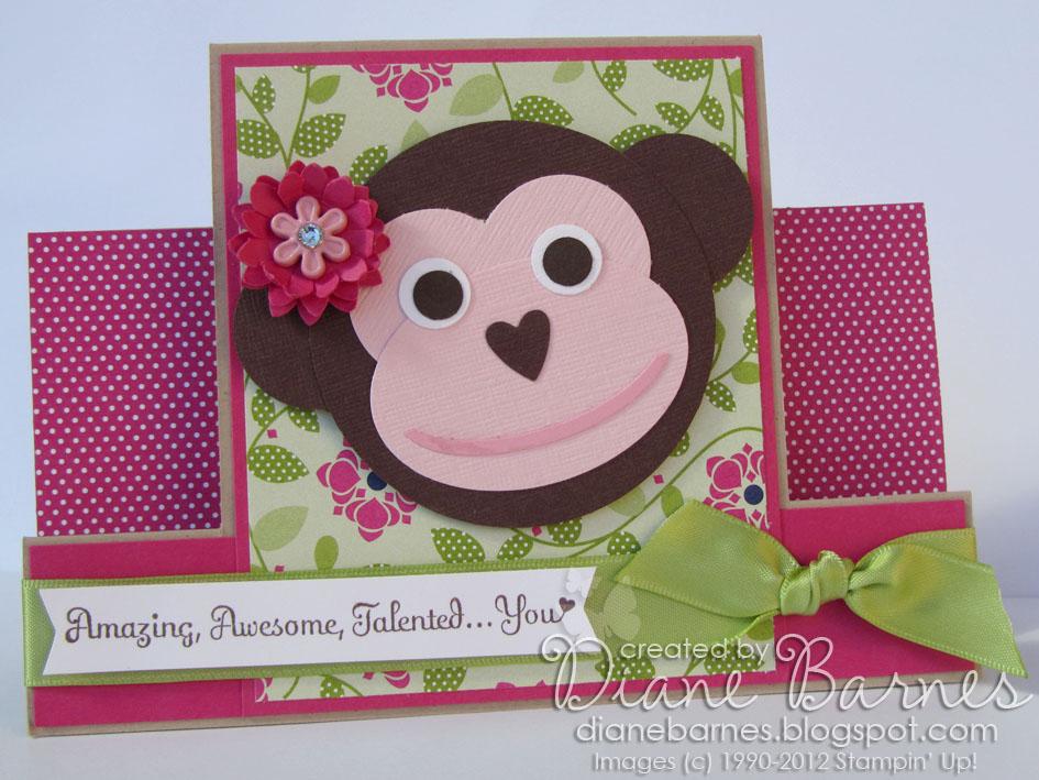 colour me happy Centrestep Monkey for Sarah – Birthday Card Monkey