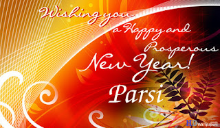 parsi new year greetings cards