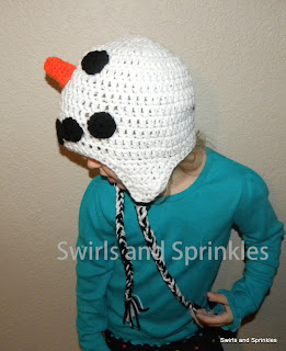 Swirls and Sprinkles: Free crochet snowman hat pattern
