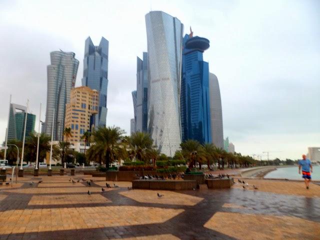 Doha Qatar building corniche Beach Photos
