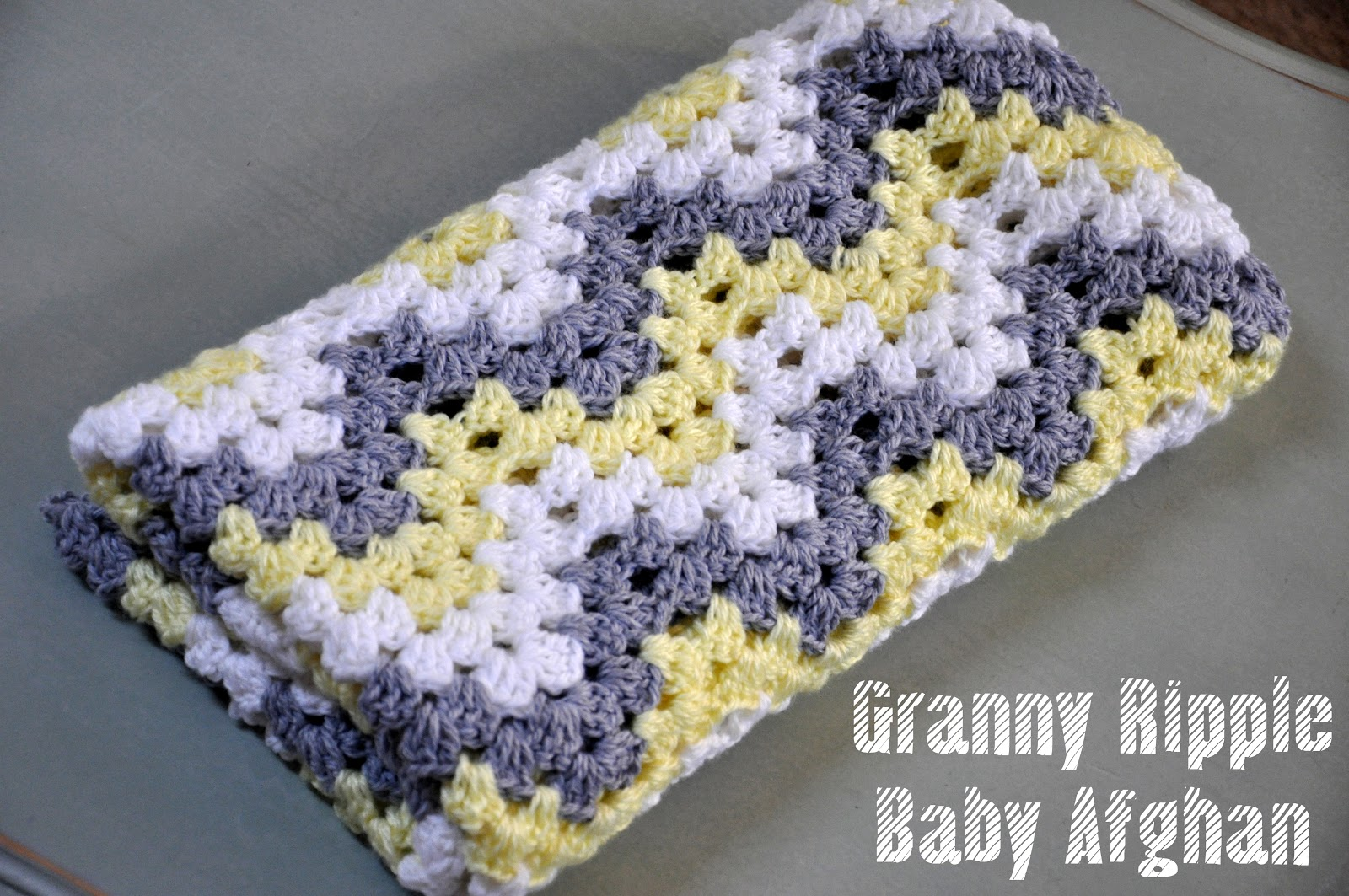Granny Ripple Afghan Pattern Simple Design