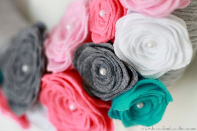 How To Make Felt Roses