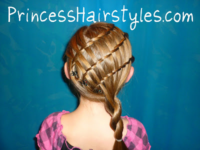 triple waterfall twist braid