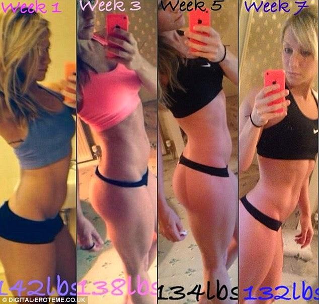 """""""كلوي مادلي"""" تنشر صورة لجسمها وكيف تحول بعد الرياضة خلال سبعة أسابيع"""