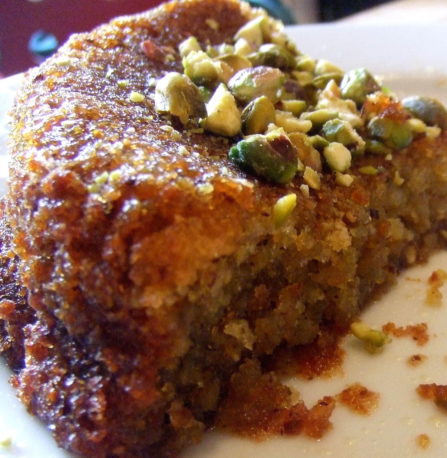 Petit Pois: Pistachio and olive oil cake
