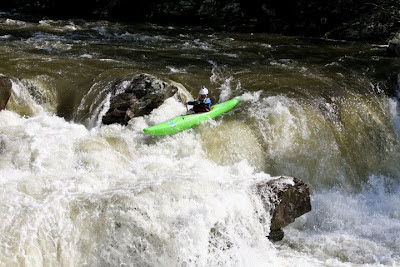 Chris Baer, Charging the middle line at Bear Creek Falls on the Cheoah