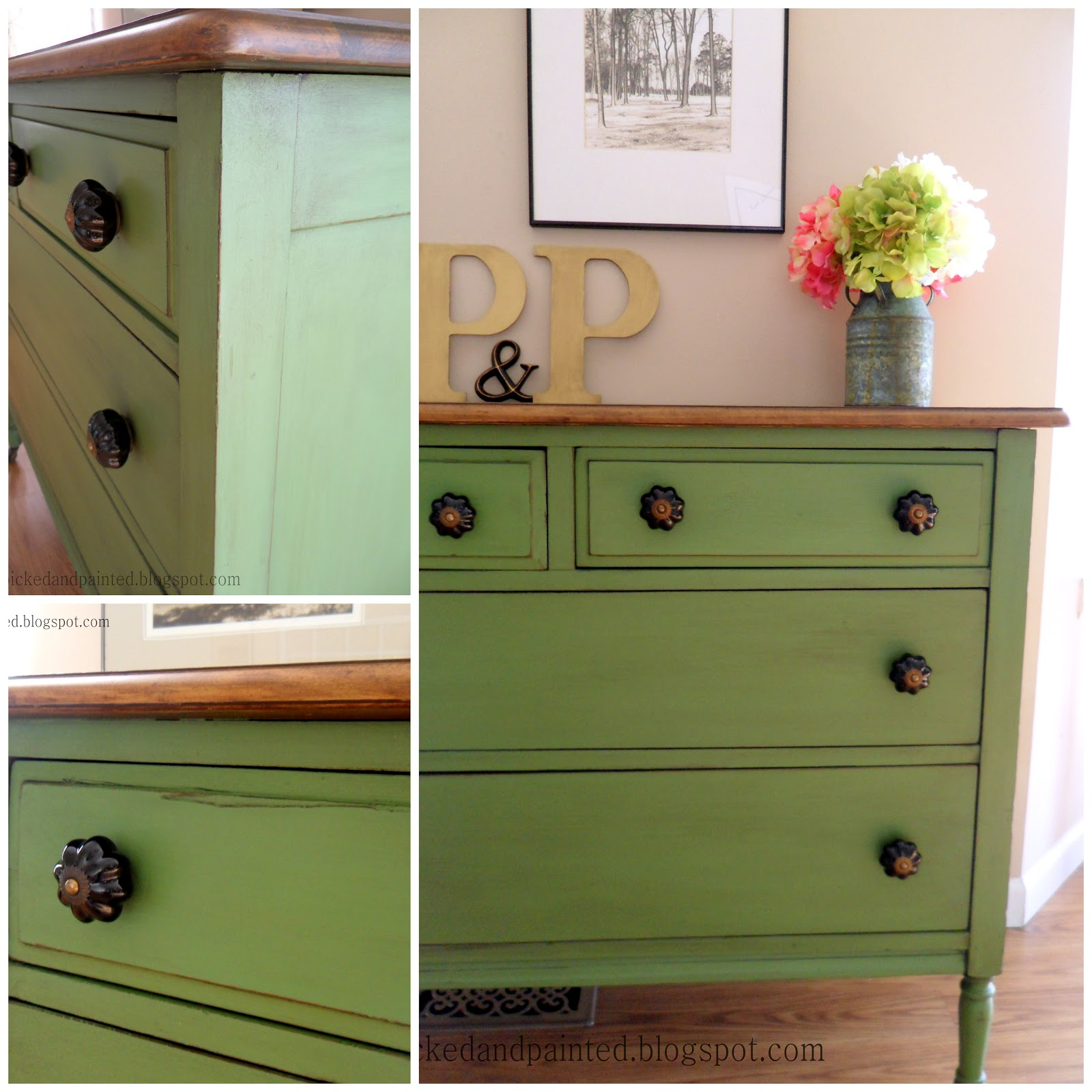 Helen nichole designs vintage green dresser Images of painted furniture