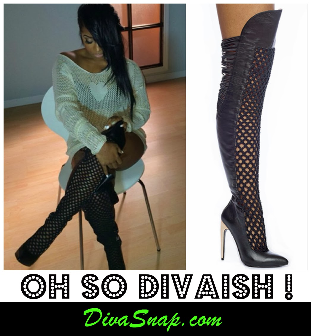 SHOES ARE DIVAISH: TOYA WRIGHT STUNNING IN THIGH HIGH DESIGNER EMILY B BOOTS - DivaSnap.com