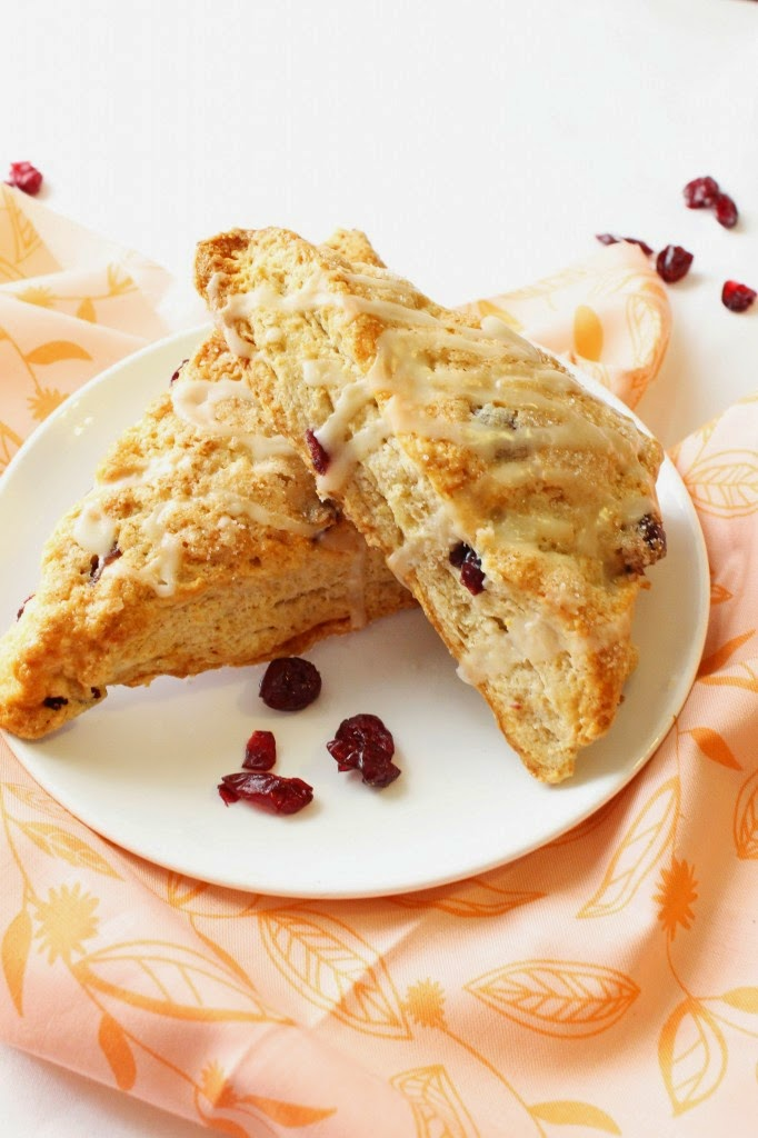 Whole Wheat Cranberry Orange Scones