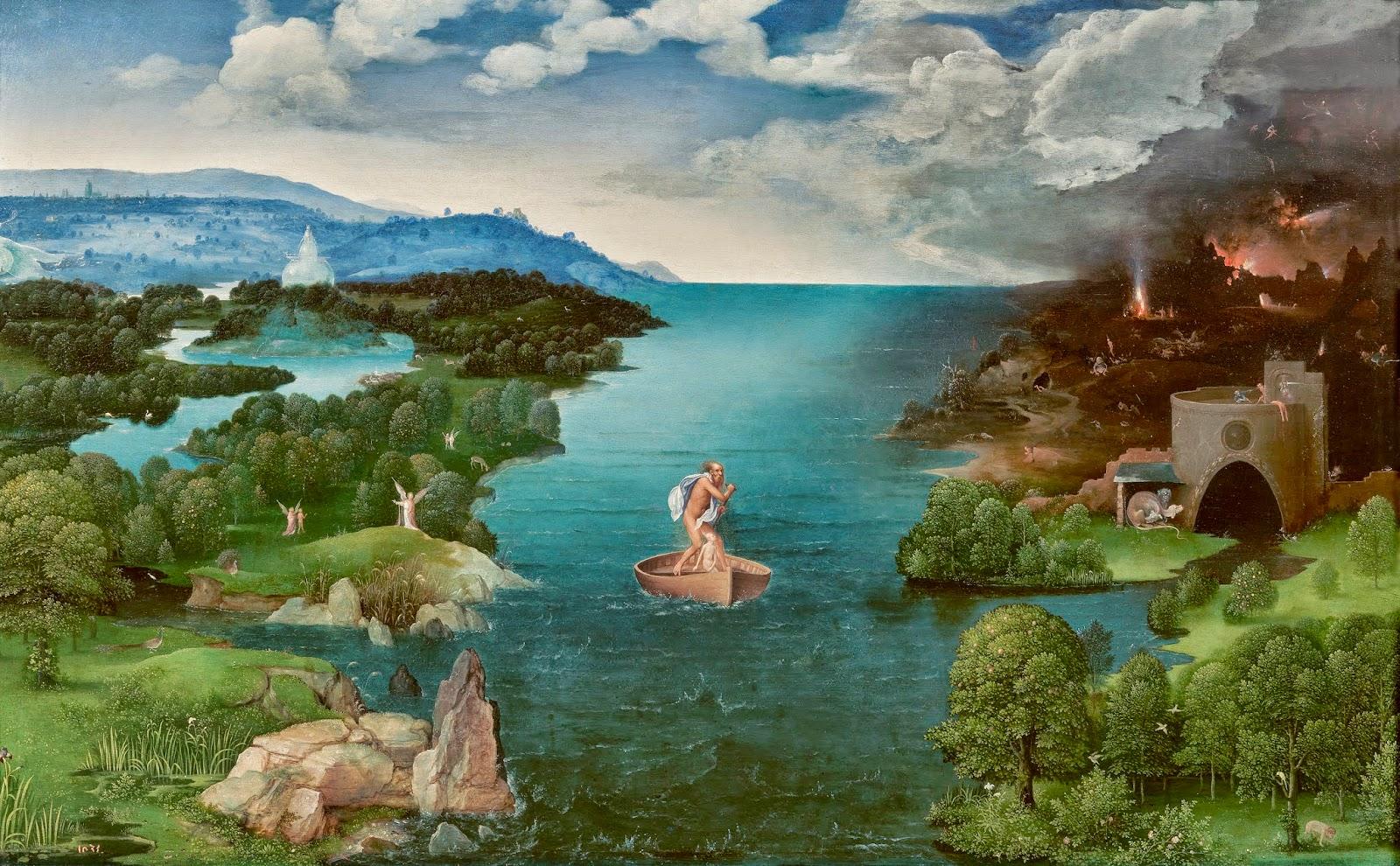 El paso de la Laguna Estigia Joachim Patinir , hacia 1510