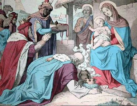 Niño Jesús y los Reyes Magos