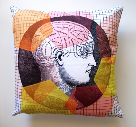 Safari Fusion blog | It's all in your head | Human cranium design cushion by Simple Intrigue South Africa