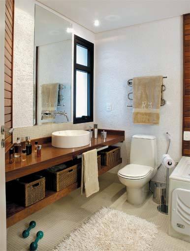 Eu moraria aqui 19 banheiros pequenos  dos mais simples aos rebuscados! -> Banheiros Simples E Decorados