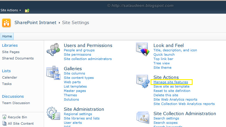 sharepoint 2010 deploy site column