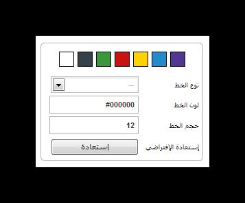 اضافة تغيير حجم ونوع الخط والتحكم في لون خلفية المدونه بلوجر