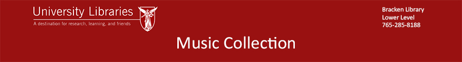 BSU Music Collection Blog