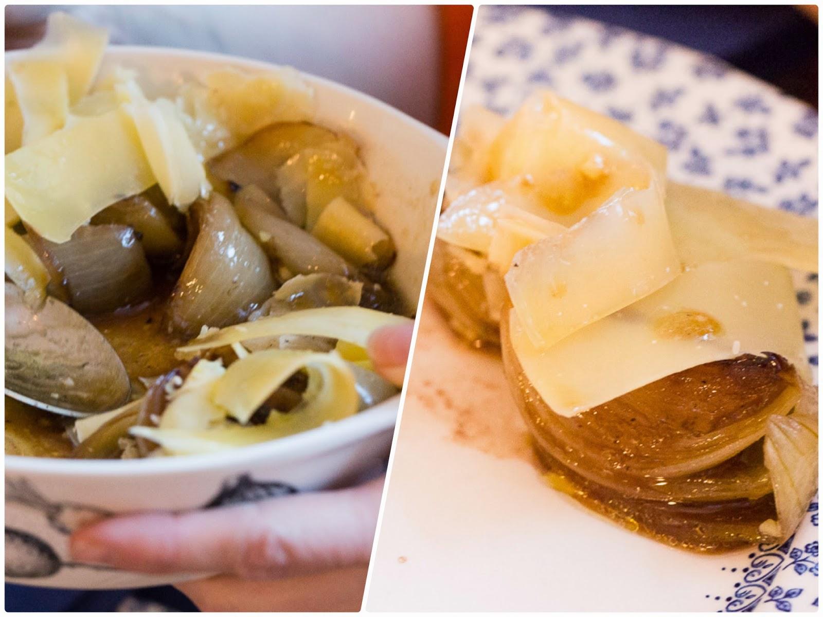 sipulia ja juustoa
