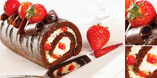 Resep Cara Membuat Bolu Gulung Coklat Manis