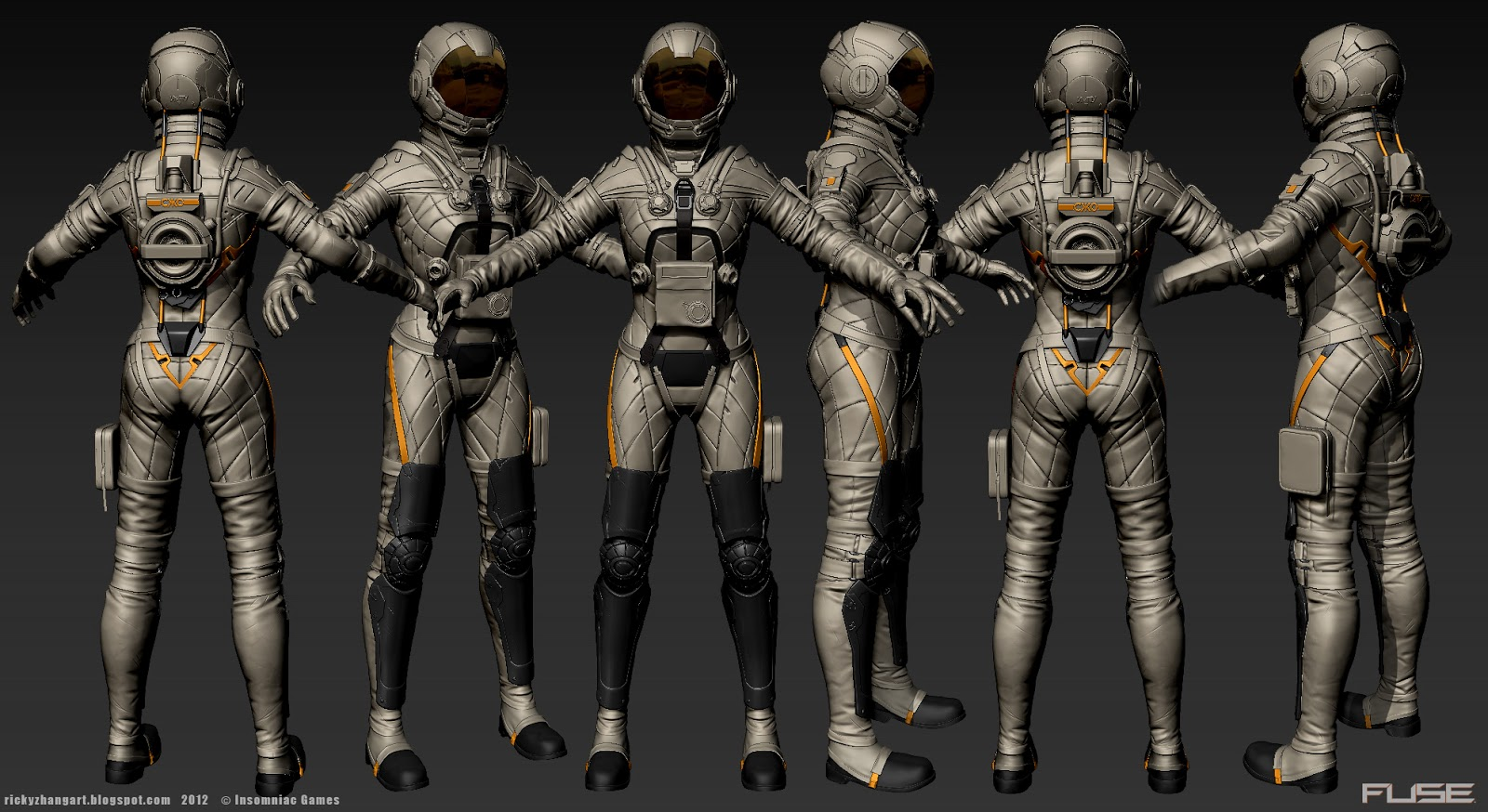 Ricky zhang art may 2013 for Female space suit