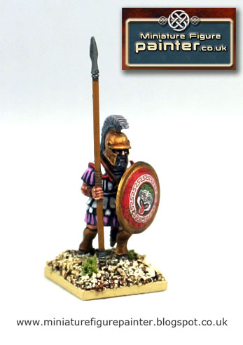 28mm Athenian Armoured Hoplite 5th to 3rd century BCE painted by Miniature Figure Painter