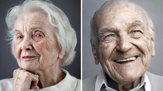 Retratos agraciados de personas que están en los 100 años de edad
