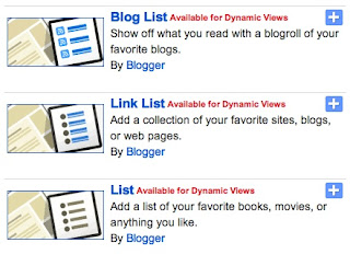 bloglist and textlist