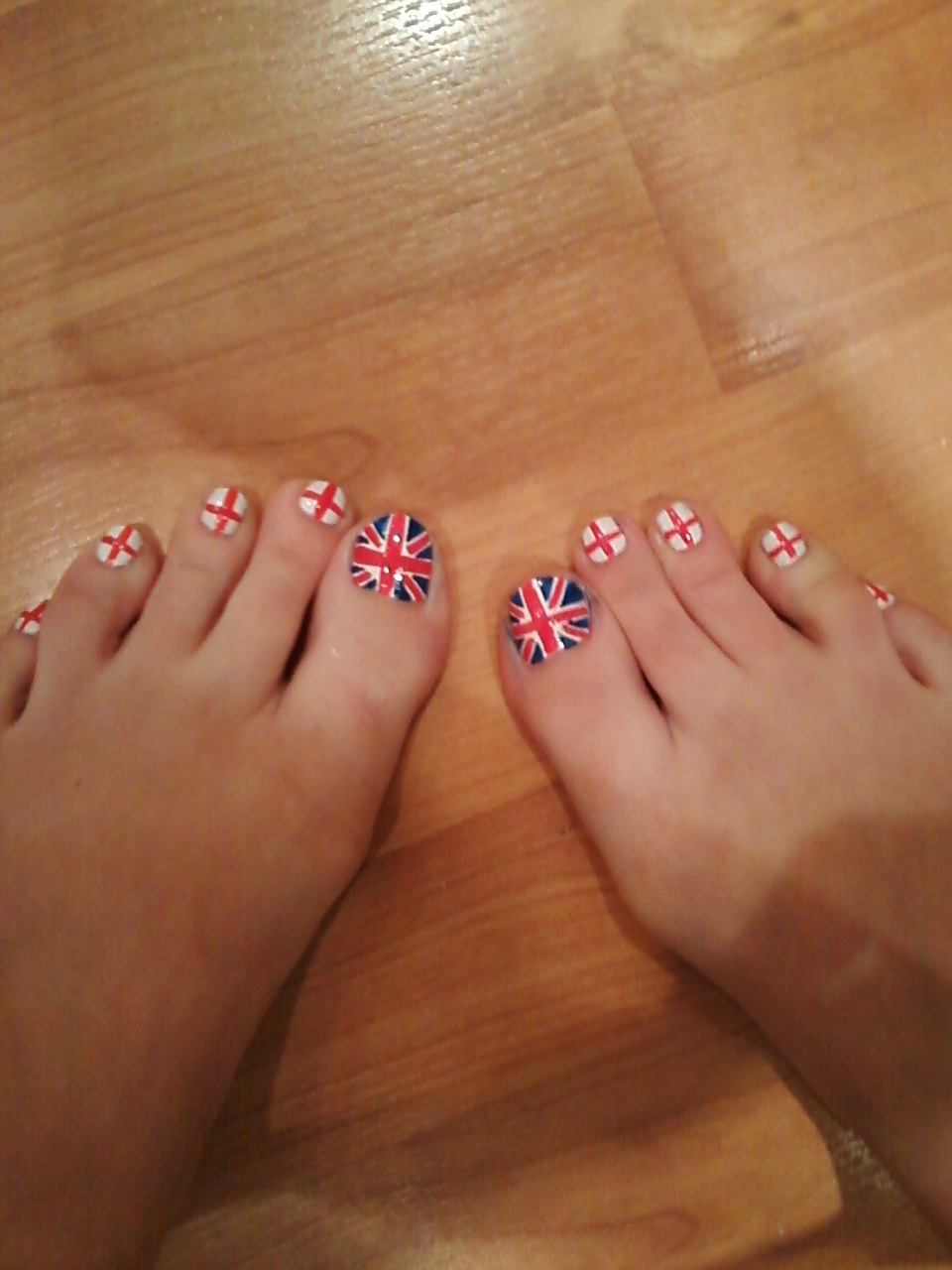 What Nails I Wore Today United England Flag Nails