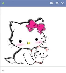 Cute Kitty Emoticon For Facebook Chat