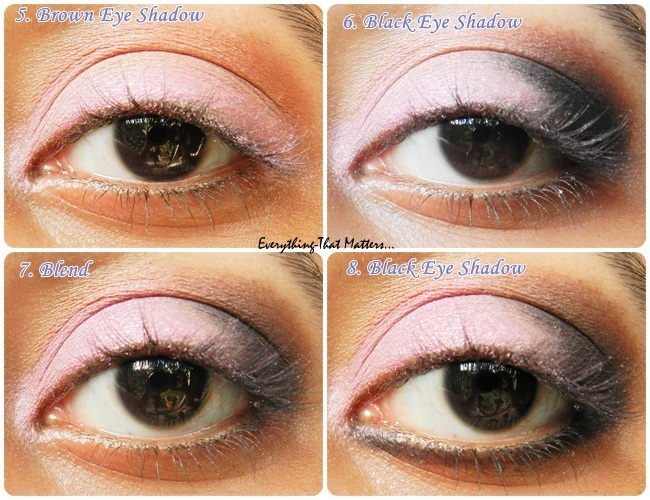 Pink Black Smokey Eyes Step By Step Picture Tutorialeverything
