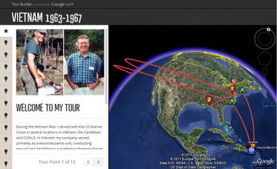 Google Lat Long Map your military service for Veterans Day
