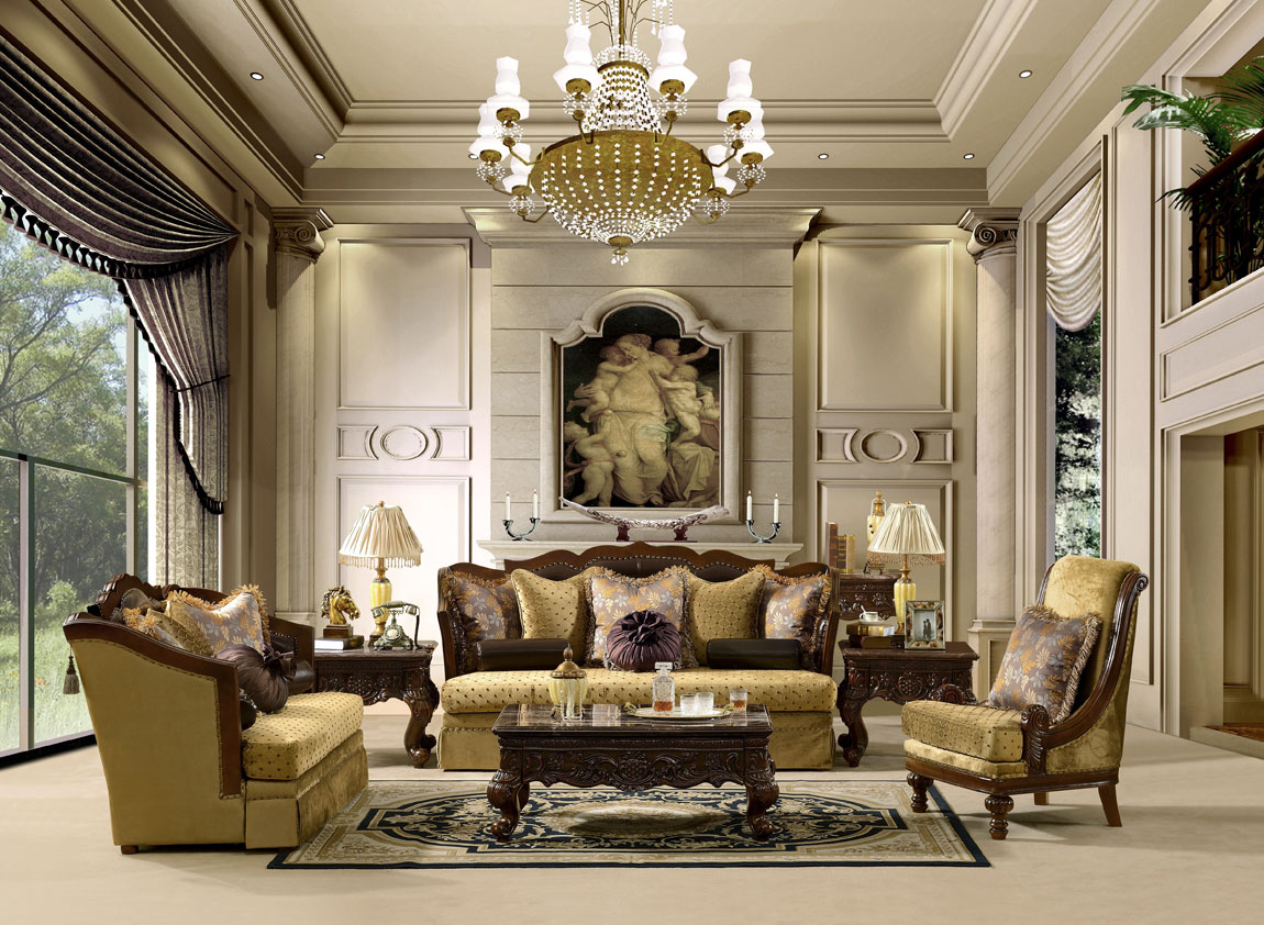 Traditional classic furniture styles luxury living room design ideas
