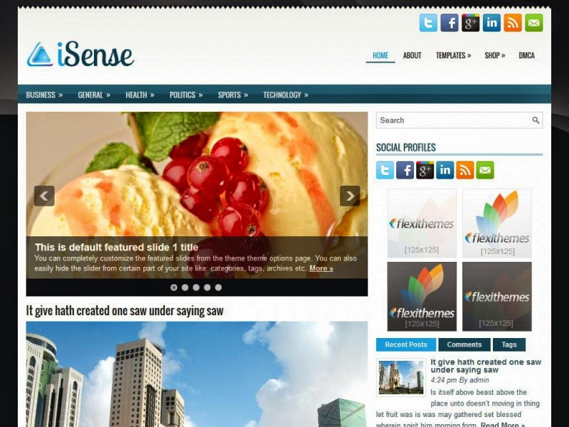 iSense - Free Wordpress Theme