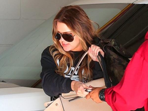Heartbroken Khloe Kardashian Puts on A Brave Face in Aviators